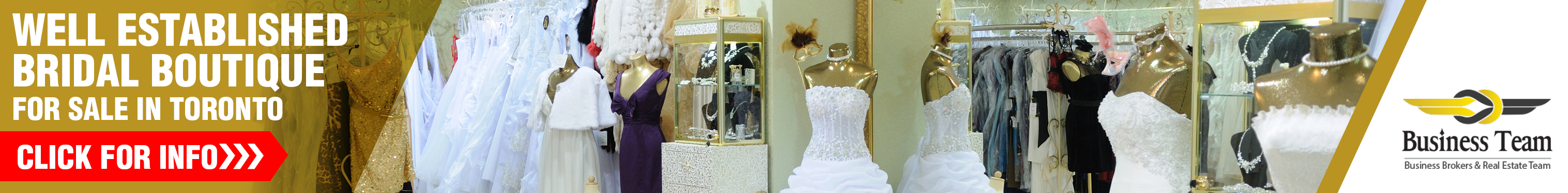 Bridal Boutique for Sale in Toronto