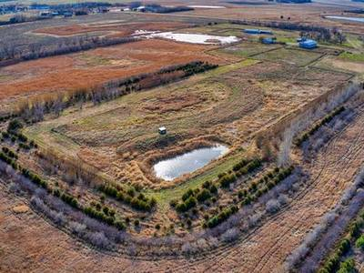 100 ACRES OF LAND WITH A CUSTOM HOUSE FOR SALE IN ORANGEVILLE