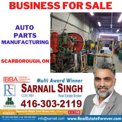 AUTO PARTS MANUFACTURING BUSINESS FOR SALE IN SCARBOROUGH