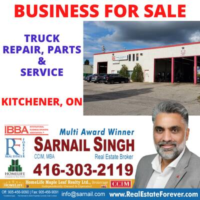 Truck Repair & Service Business For Sale- Kitchener